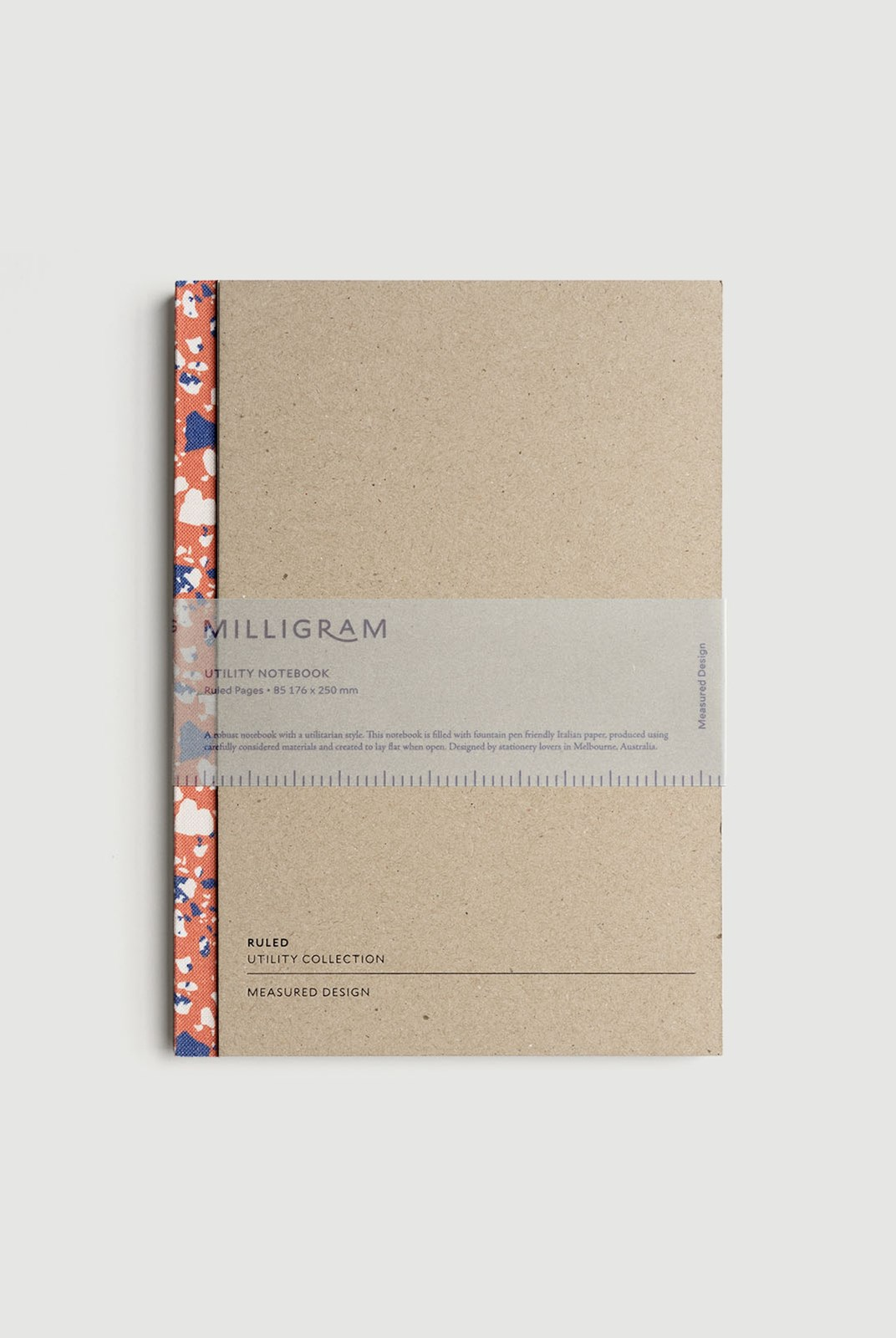 Milligram - Utility Notebook - Ruled - B5 - Terrazzo Pattern