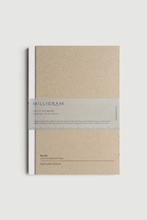 Milligram - Utility Notebook - Ruled - B5 - White - Notebooks & Journals Notebook - Ruled