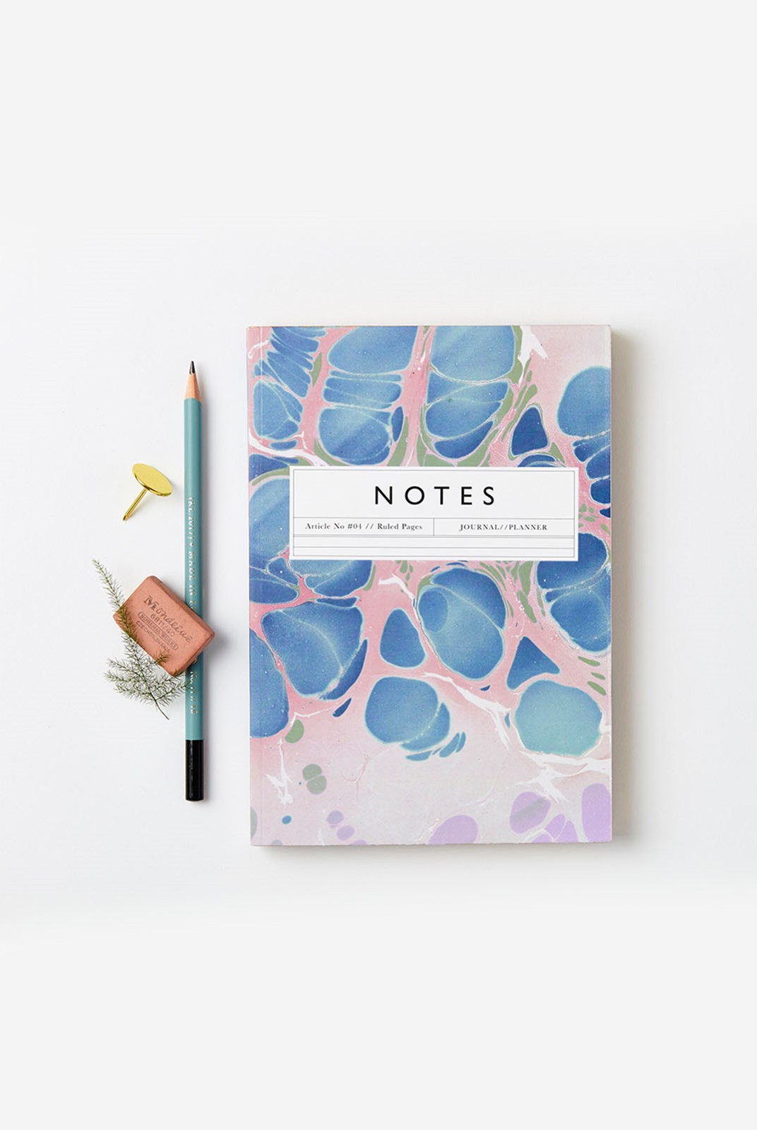 Katie Leamon - Marble Notebook - Ruled - A5 - Article No. 04