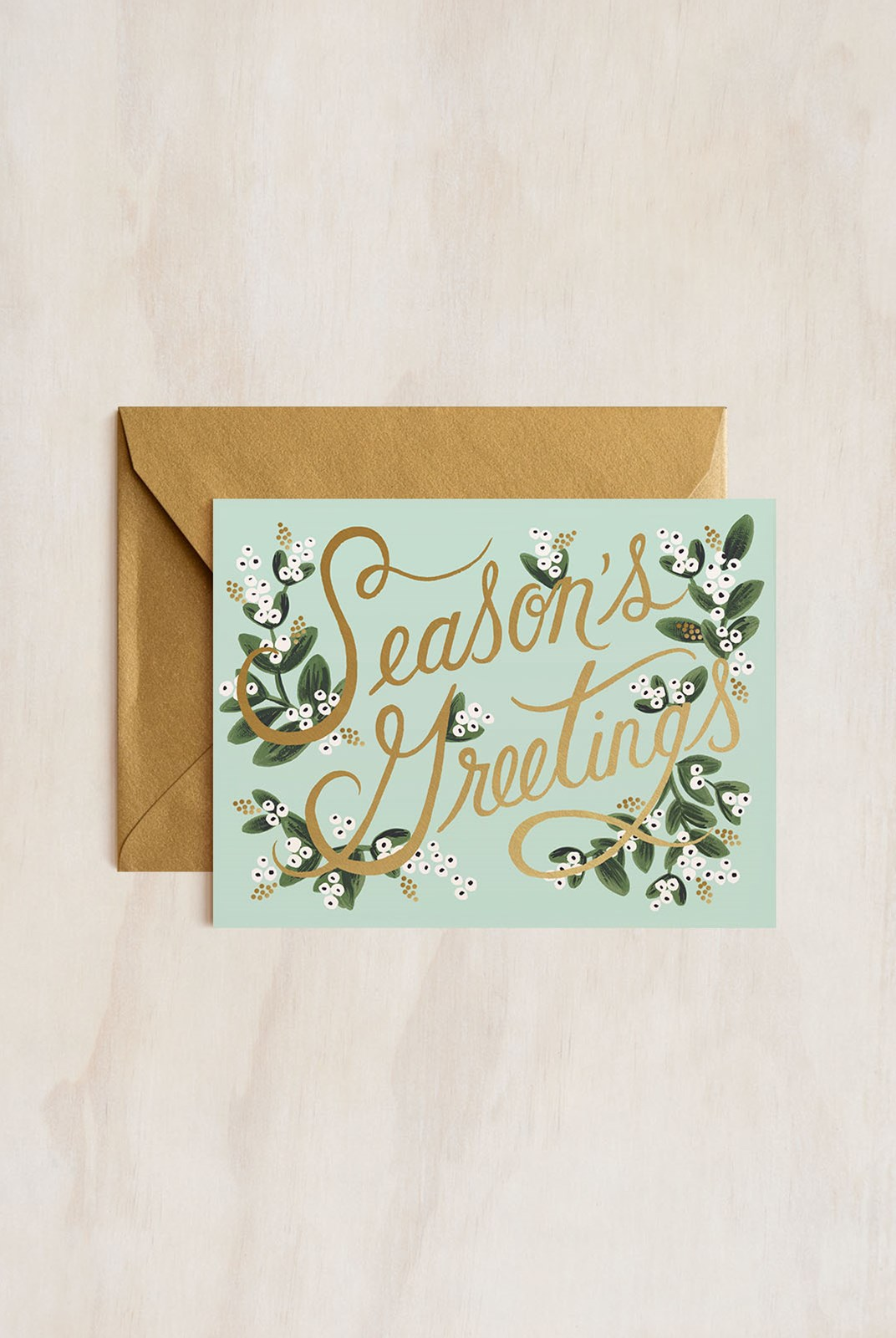 Rifle Paper Co - Single Card - Mistletoe Season's Greetings