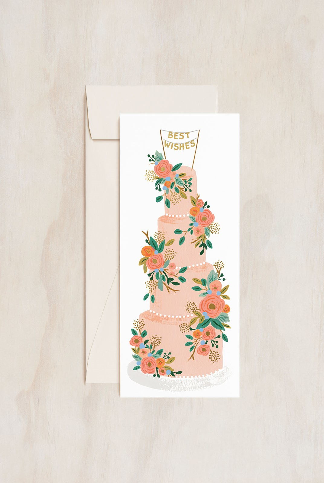 Rifle Paper Co - Single Long Card - Tall Wedding Cake