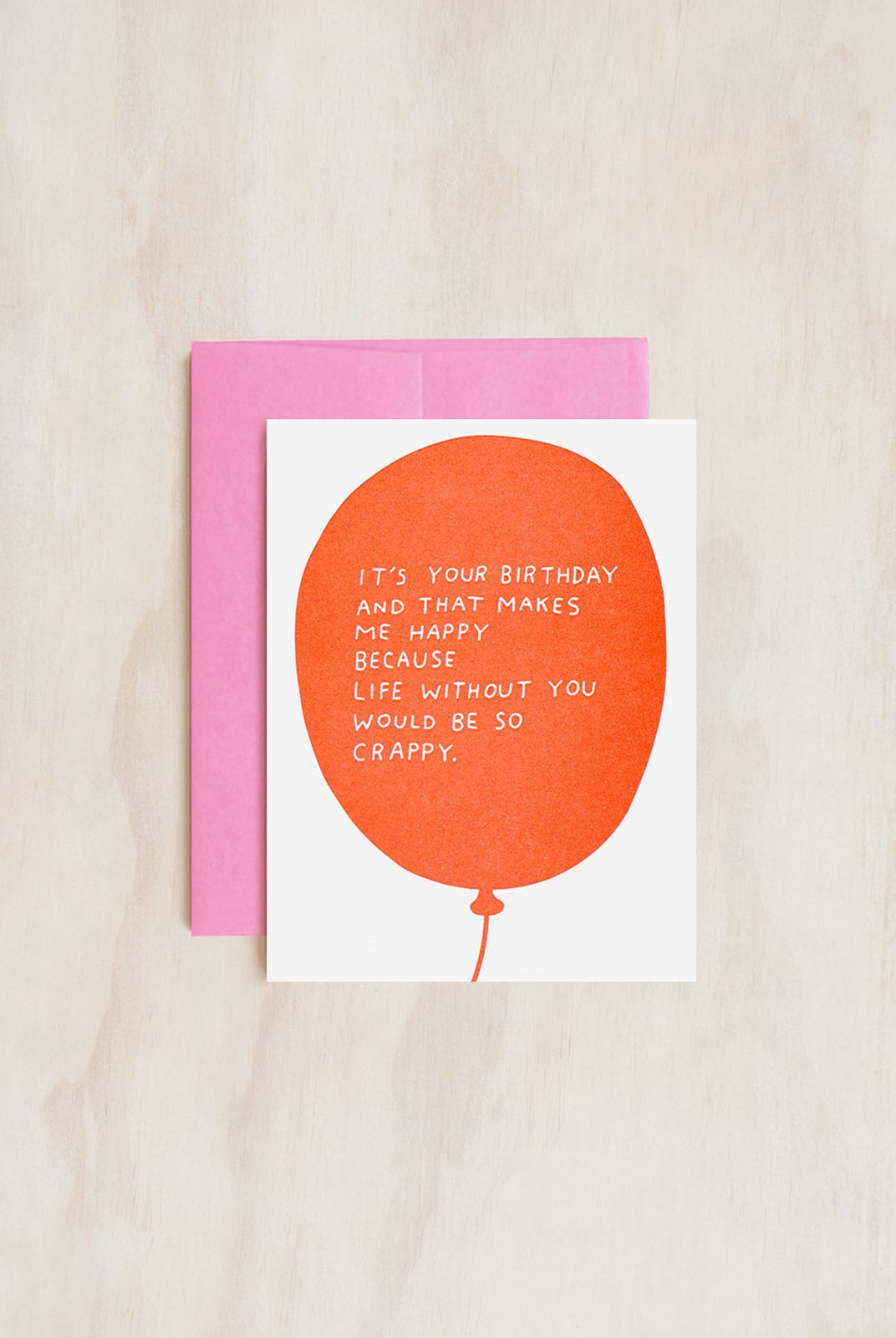 Ashkahn - Single Card - Birthday Balloon