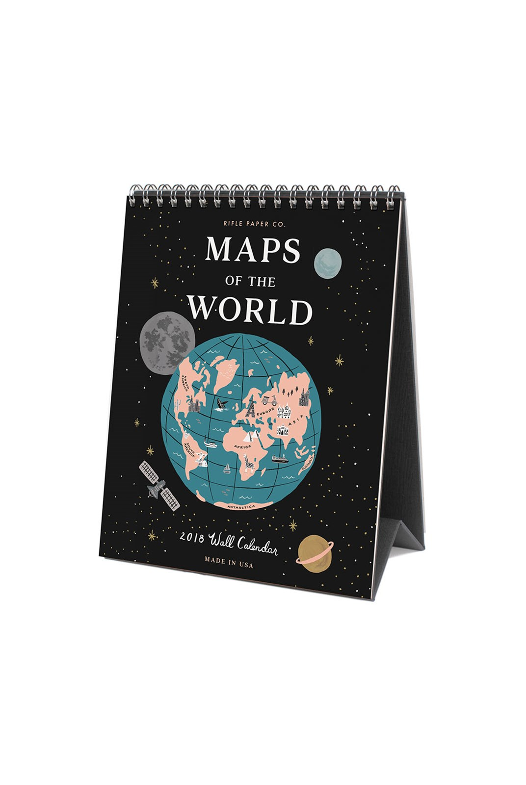 Rifle Paper Co - 2019 Desk Calendar - Maps of the World