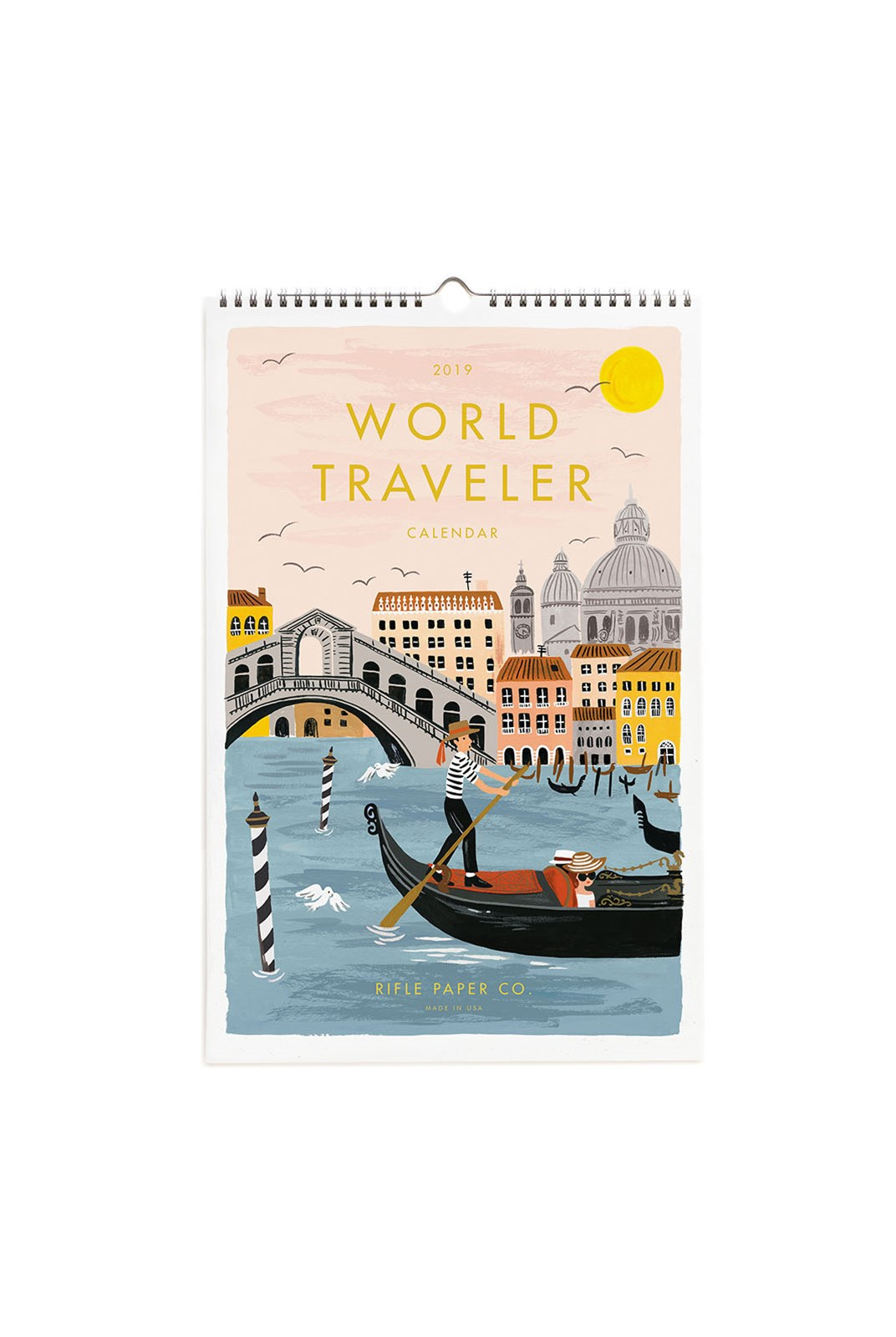 Rifle Paper Co - 2019 Wall Calendar - World Traveller