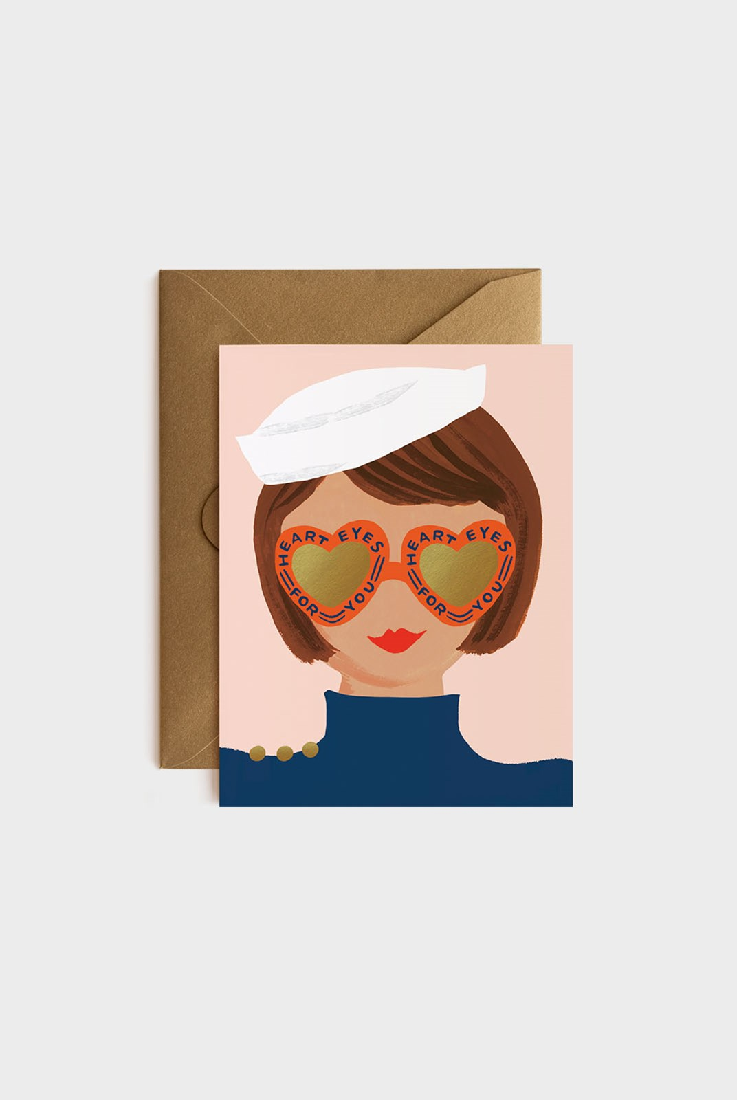 Rifle Paper Co - Single Card - Heart Eyes
