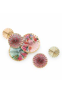 Rifle Paper Co - Paper Fans - Set/6 - Garden Party - Homewares Decor