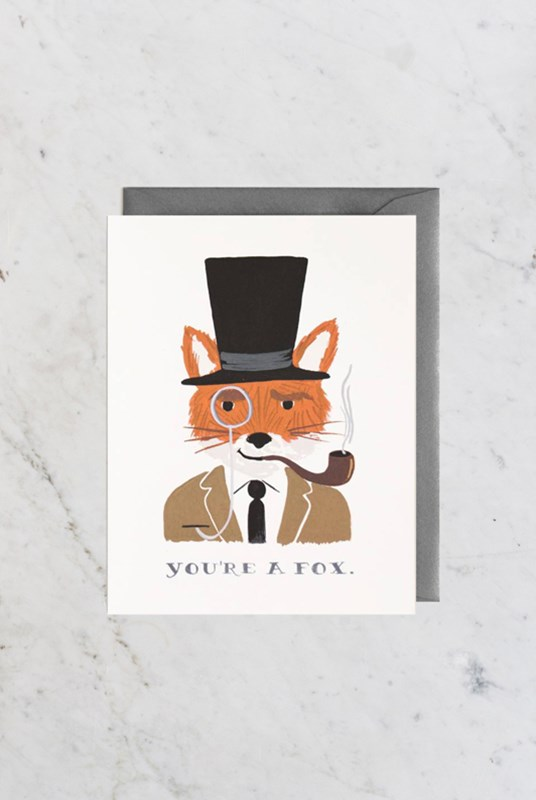 Rifle Paper Co - Single Card - You're a Fox