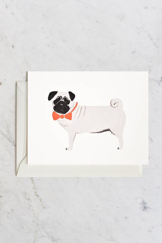 Rifle Paper Co - Single Card - Pug