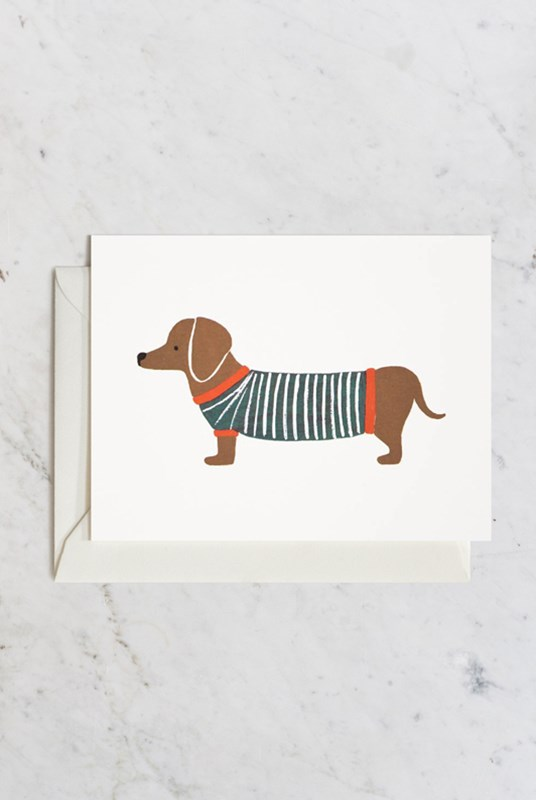 Rifle Paper Co - Single Card - Dachshund