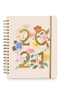 Rifle Paper Co - 2021 Hard Cover Spiral Planner Wild Garden - Diaries Diary - Weekly