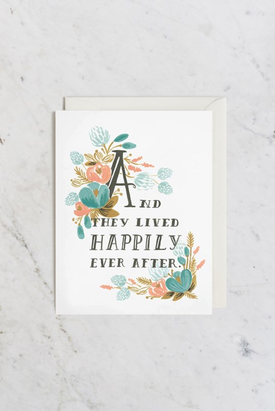 Rifle Paper Co - Single Card - Happily Ever After