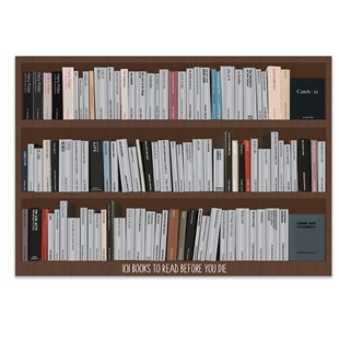 101 Books Scratch Poster - Homewares Décor