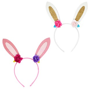 Floral Bunny Headband - Children's Toys & Games Dress Up & Role Play