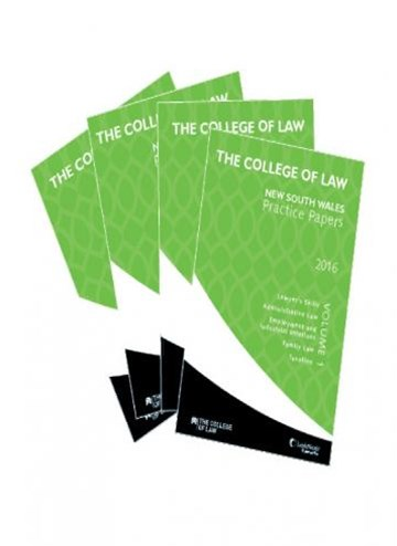 The College of Law Practice Papers 2016 - Set