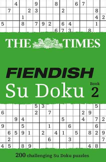 The Times: Fiendish Su Doku Book 2