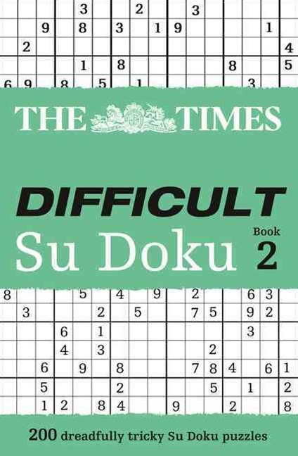 Times Difficult Su Doku