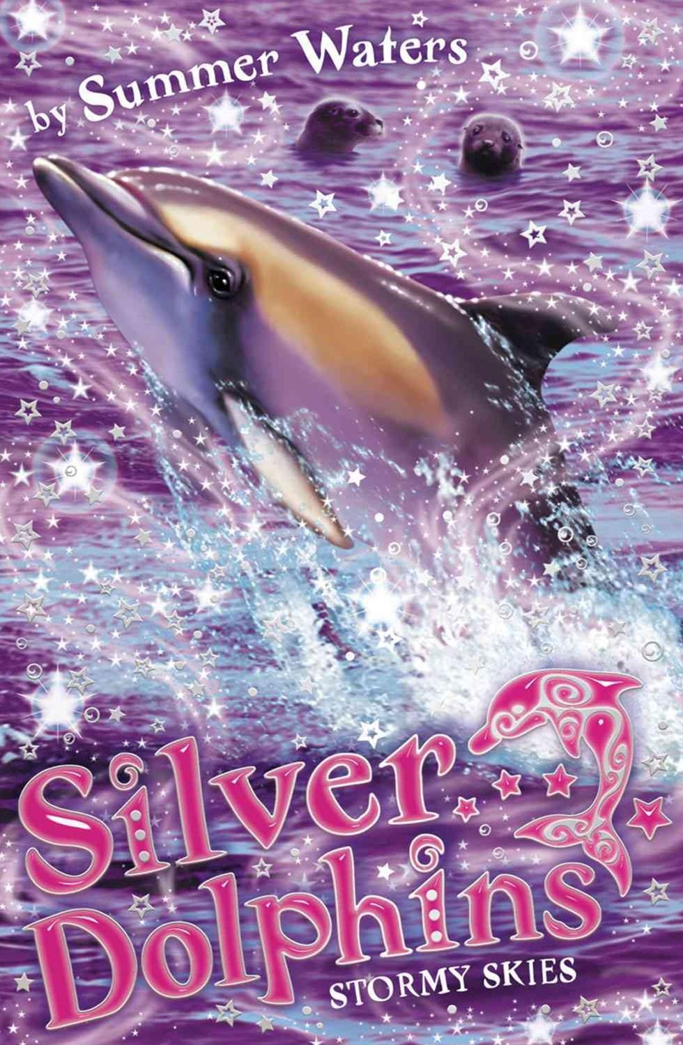 Stormy Skies: Silver Dolphins