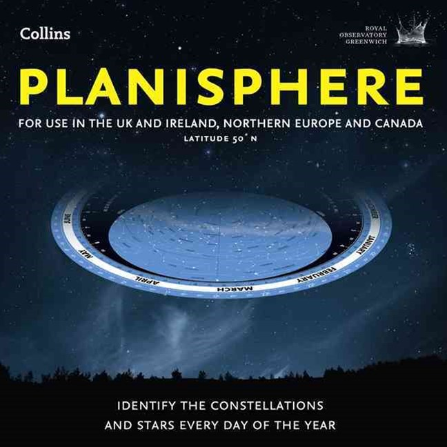 Planisphere: Latitude 50N: For use in the UK and Ireland, Northern Europe and Canada