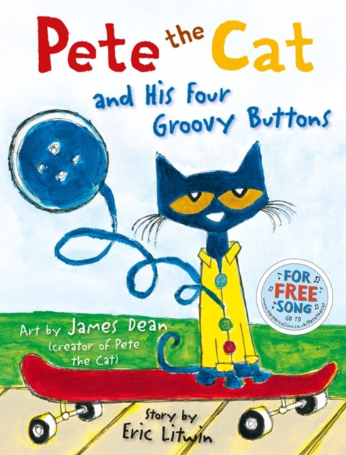 (ebook) Pete the Cat and his Four Groovy Buttons (Read Aloud)