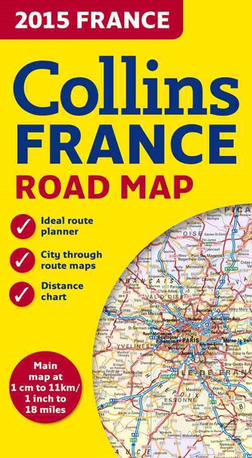 2015 Collins Map of France [New Edition]