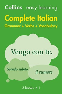 Collins Easy Learning Complete Italian Grammar, Verbs and Vocabulary (3 Books In 1) [2nd Edition] by Collins Dictionaries (9780008141752) - PaperBack - Education