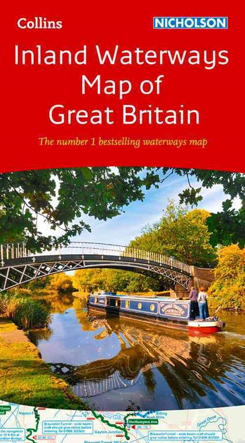 Collins Nicholson Inland Waterways Map Of Great Britain [New Edition]