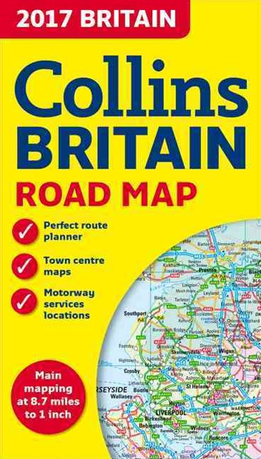 2017 Collins Map Of Britain [New Edition]