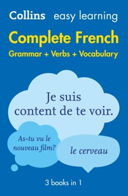 (ebook) Easy Learning French Complete Grammar, Verbs and Vocabulary (3 books in 1) (Collins Easy Learning French)