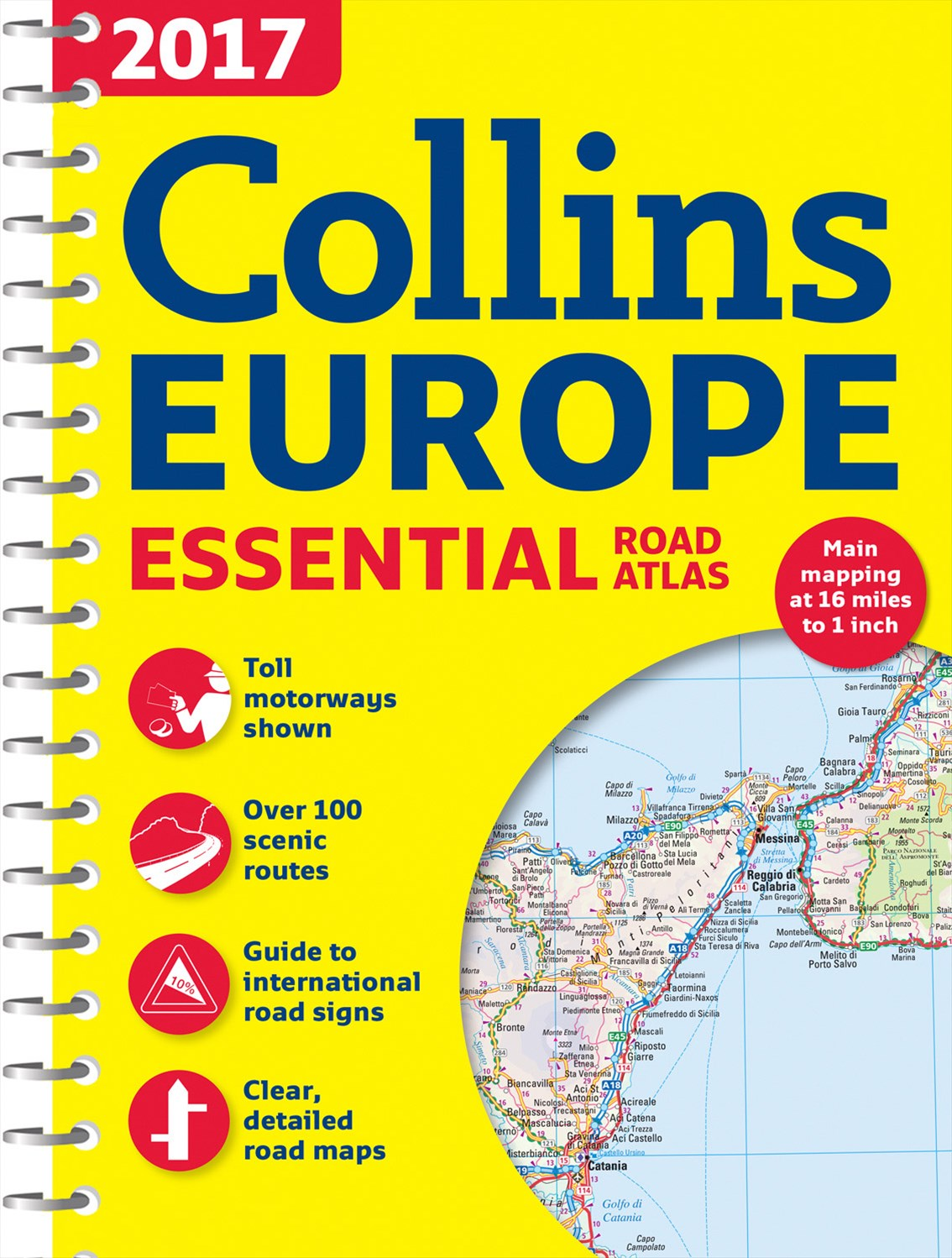 2017 Collins Essential Road Atlas Europe [New Edition]