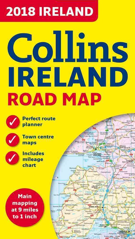 2018 Collins Map Of Ireland [New Edition]