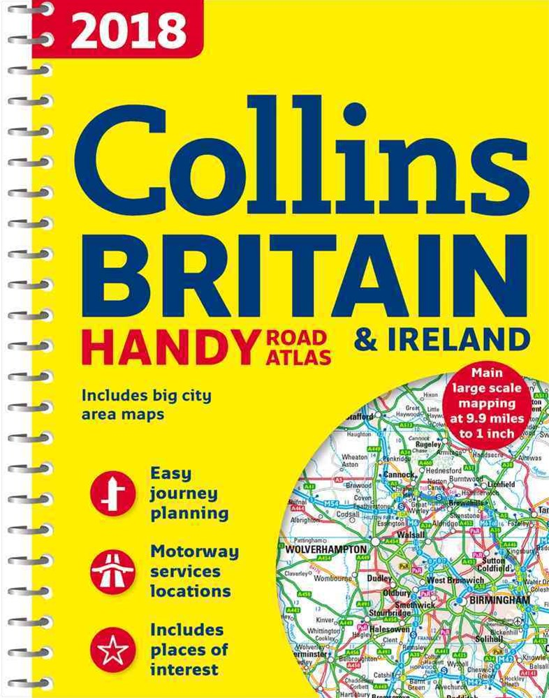 2018 Collins Handy Road Atlas Britain [New Edition]