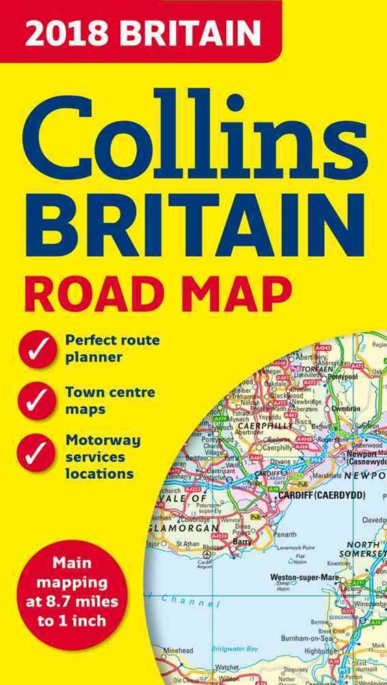 2018 Collins Map Of Britain [New Edition]