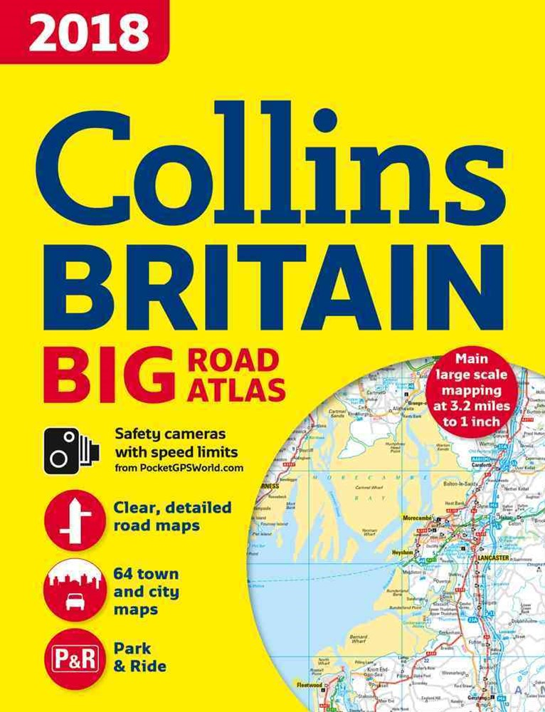 2018 Collins Big Road Atlas Britain [New Edition]