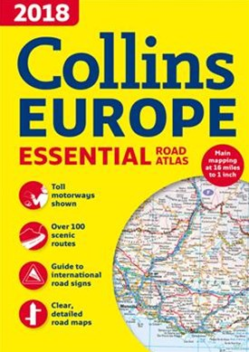2018 Collins Essential Road Atlas Europe [New Edition]