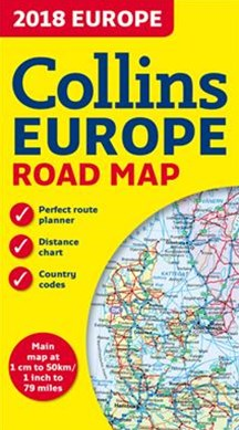 2018 Collins Map Of Europe [New Edition]