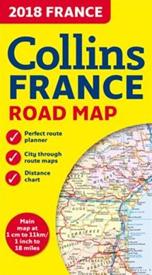 2018 Collins Map Of France [New Edition]