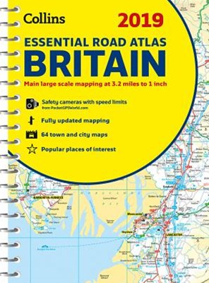 2019 Collins Essential Road Atlas Britain [New Edition]