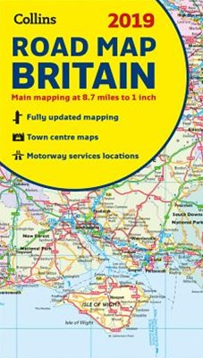 2019 Collins Map Of Britain [New Edition]
