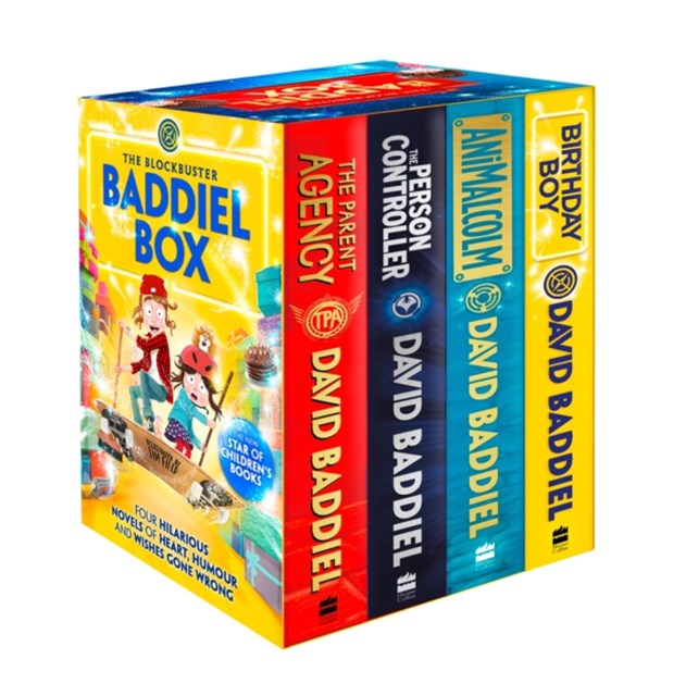 David Baddiel Four Book Box Set (The Person Controller, The Parent Agency, Animalcolm, Birthday Boy)