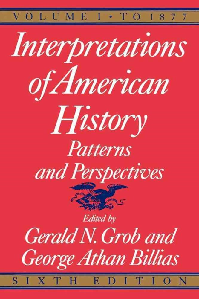 &quote;Interpretations of American History: 6th Ed, Vol 1 to 1877  &quote;
