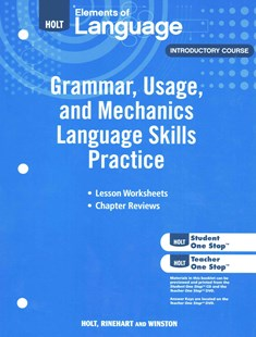 Elements of Language, Introductory Course by Holt, Rinehart, and Winston, Inc. (9780030994135) - PaperBack - Non-Fiction