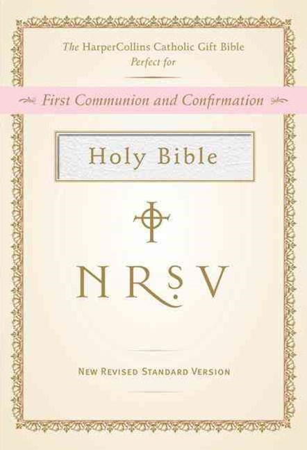 NRSV HarperCollins Catholic Gift Bible - white colour