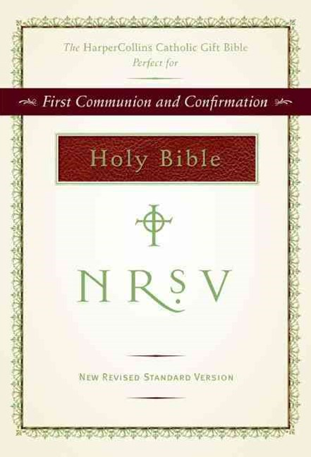 NRSV HarperCollins Catholic Gift Bible - burgundy colour