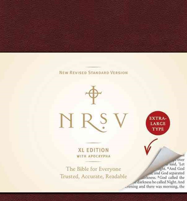 NRSV XL with Apocrypha (burgundy)