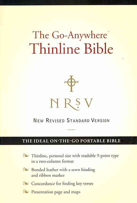 NRSV: The Go-Anywhere Thinline Bible (Bonded Leather, Black)
