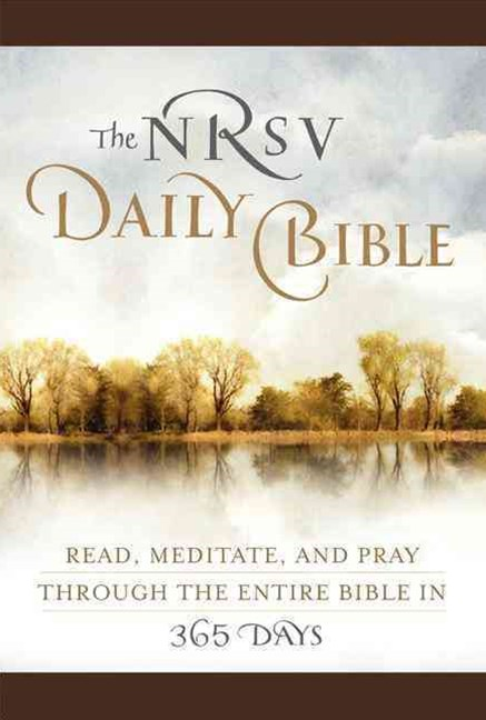 The NRSV Daily Bible: Read, Meditate, and Pray Through the Entire Bible in 365 Days (Brown Imitatio