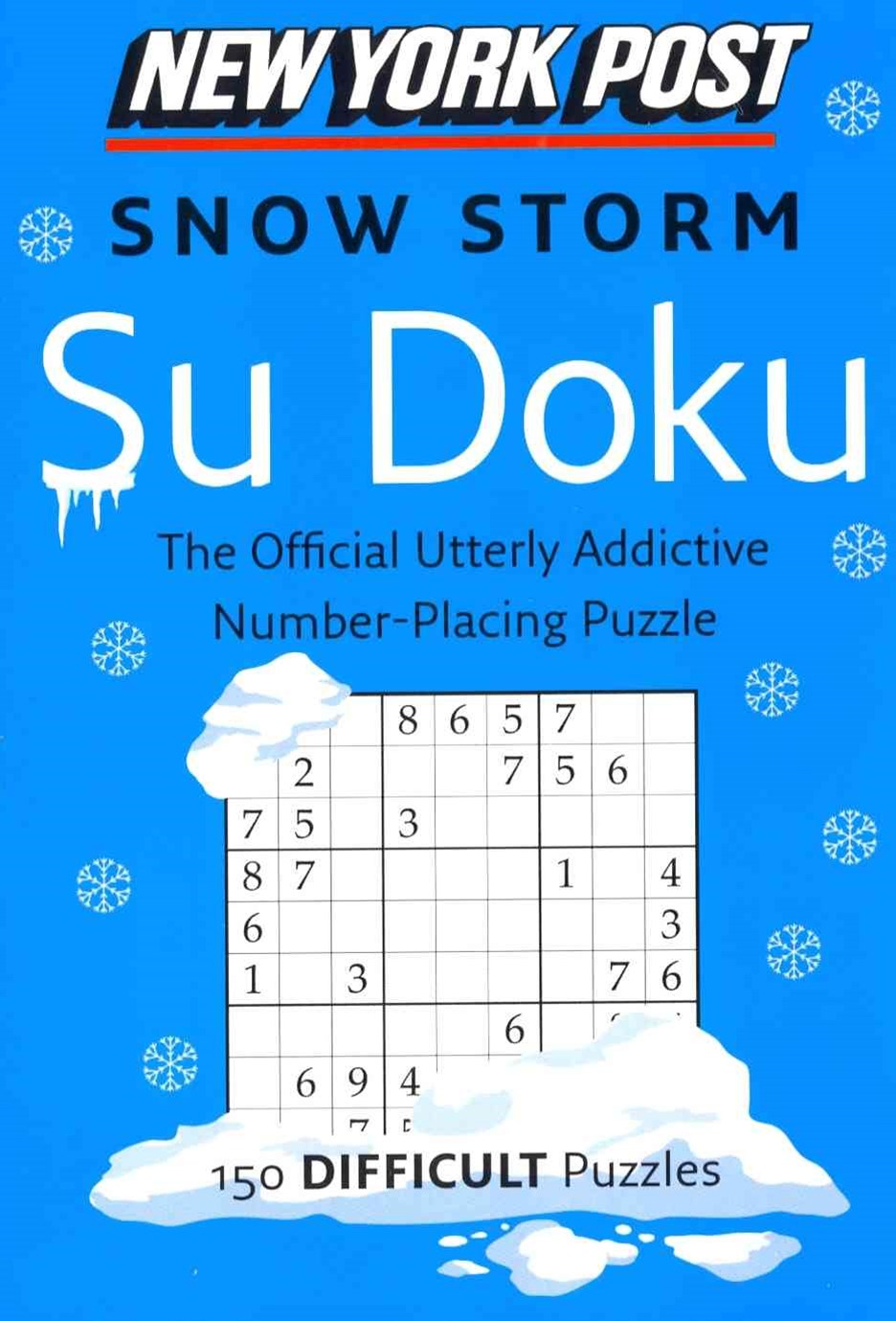 New York Post Snow Storm Su Doku (Difficult)