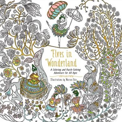 Elves In Wonderland: A Coloring And Puzzle-Solving Adventure For All Ages