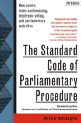 Standard Code of Parliamentary Procedure, 4th Edition