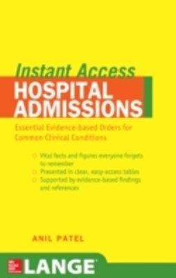 (ebook) LANGE Instant Access Hospital Admissions